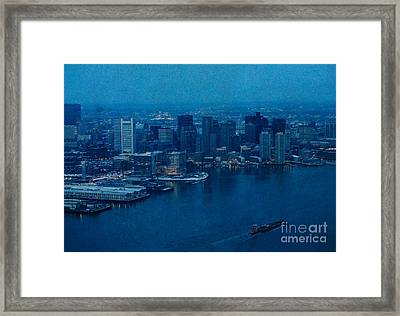 Blue Boston Framed Print by Claudia M Photography