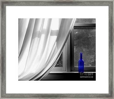 Blue Bottle Framed Print by Diane Diederich