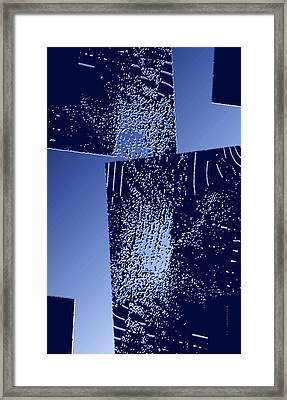Blue Breaking Framed Print by Mario Perez