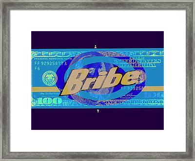 Blue Bribe Funk  Framed Print by Funkpix Photo Hunter