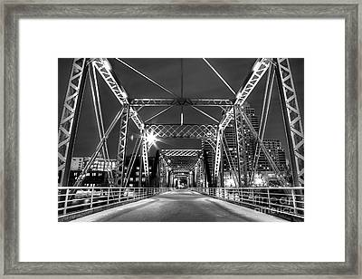 Blue Bridge In Black And White Framed Print by Twenty Two North Photography
