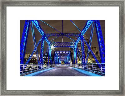 Blue Bridge Framed Print by Twenty Two North Photography