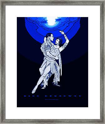 Blue Broadway Framed Print by Christopher Korte