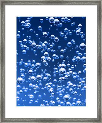 Blue Bubbles Framed Print by Bruno Haver