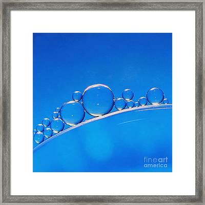 Blue Bubbles Framed Print by Karin Ubeleis-Jones