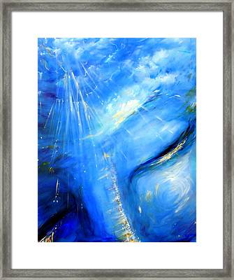 Blue Buddha Sky Framed Print by Heather Calderon