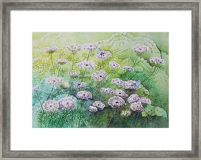 Blue Butterflies Framed Print by Patsy Sharpe