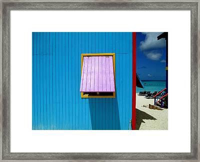 Blue Cabin Framed Print by Randall Weidner