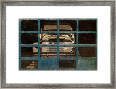 Blue Cage Framed Print by Jeff  Gettis