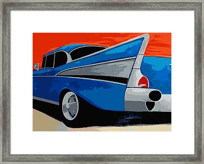 1957 Chevy Bel Air Framed Print by Katy Hawk