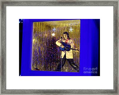 Blue Christmas Without Elvis Framed Print by Kathy  White