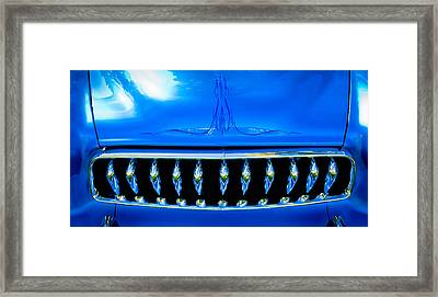 Blue Chrome Grill Framed Print by Phil 'motography' Clark