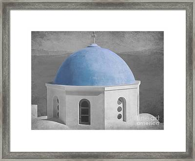 Blue Church Dome Framed Print by Sophie Vigneault