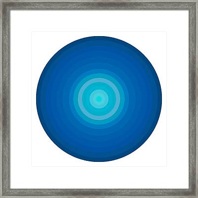 Blue Circles Framed Print by Frank Tschakert