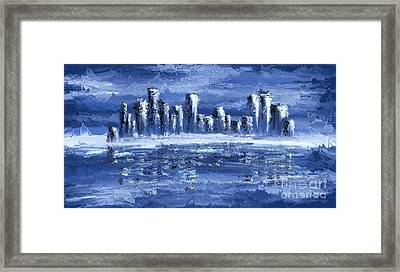Blue City Framed Print by Svetlana Sewell