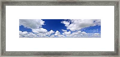 Blue Cloudy Sky Panorama Framed Print by Elena Elisseeva