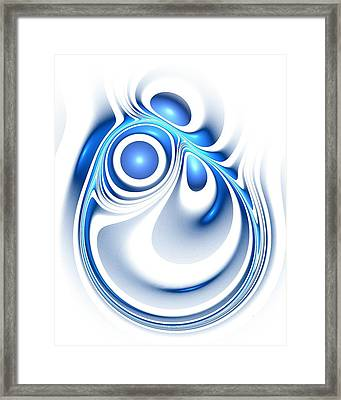 Blue Creation Framed Print by Anastasiya Malakhova