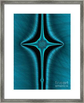 Blue Cross Abstract Framed Print by John Edwards