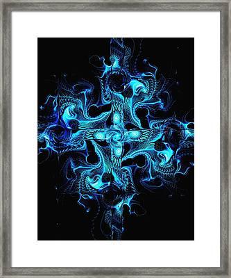 Blue Cross Framed Print by Anastasiya Malakhova