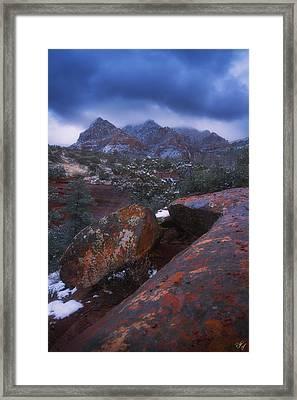Blue Dawn Framed Print by Peter Coskun