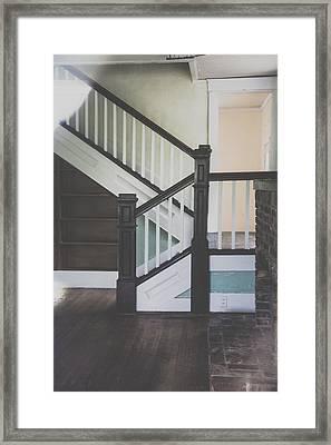 Blue Details Framed Print by Toni Hopper