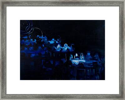 Blue Dining Room Framed Print by Susie Hamilton