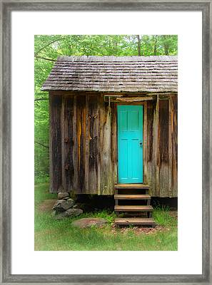Blue Door Framed Print by Carolyn Derstine
