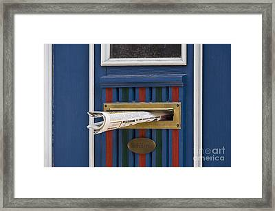 Blue Door Framed Print by Heiko Koehrer-Wagner