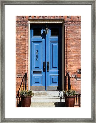 Blue Door Framed Print by Jon Woodhams