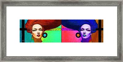 Blue Earring - Purple Lady Combo Framed Print by Chuck Staley