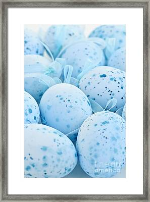 Blue Easter Eggs Framed Print by Elena Elisseeva