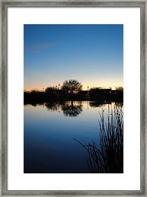 Blue Framed Print by Edward Curtis