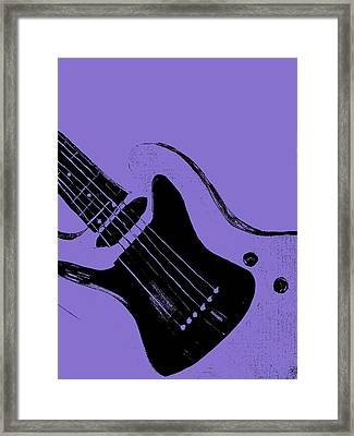 Blue Electric Guitar Framed Print by Mark Moore