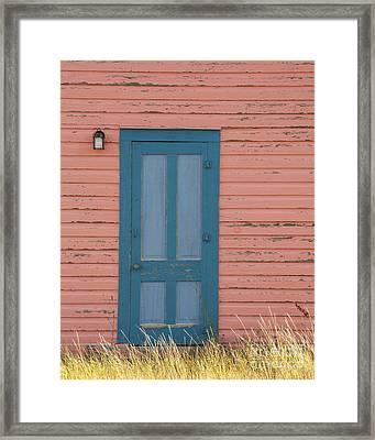 Blue Entrance Door Framed Print by Juli Scalzi