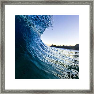 Blue Envelope  -  Part 1 Of 3 Framed Print by Sean Davey