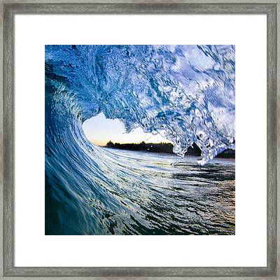Blue Envelope  -  Part 2 Of 3 Framed Print by Sean Davey
