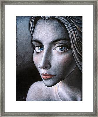 Blue Eyes Framed Print by Ilir Pojani