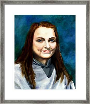 Blue Eyes Framed Print by Joan Mace
