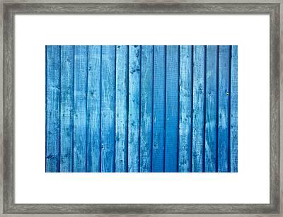 Blue Fence Framed Print by Tom Gowanlock