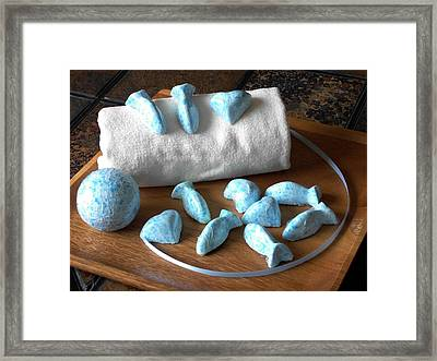 Blue Fish Bath Bombs Framed Print by Anastasiya Malakhova