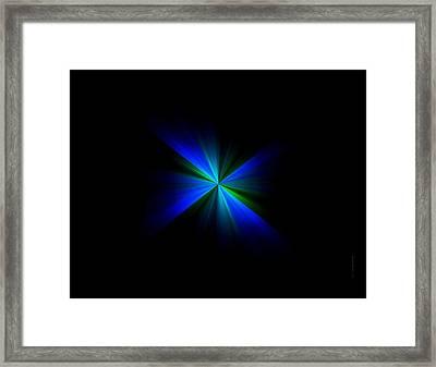 Blue Flash Framed Print by Mario Perez