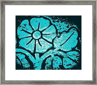 Blue Flower Framed Print by Chris Berry