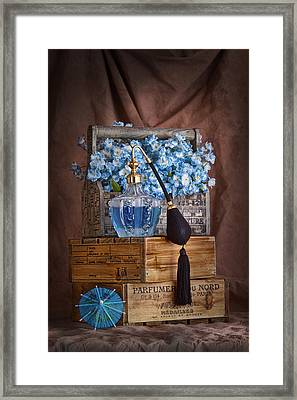 Blue Flower Still Life Framed Print by Tom Mc Nemar