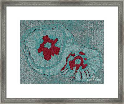 Blue Flowers Framed Print by Christine Perry
