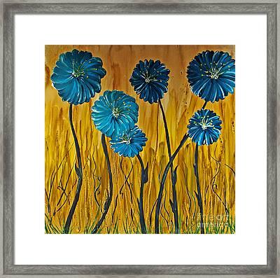 Blue Flowers Framed Print by Ryan Burton