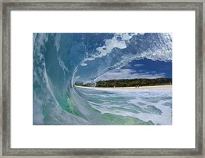 Blue Foam Framed Print by Sean Davey