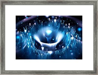 Blue Fountain Framed Print by Anastasiya Malakhova