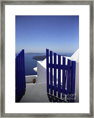 Blue Gate Framed Print by Deborah Benbrook