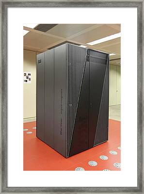 Blue Gene Supercomputer Framed Print by Ibm Research