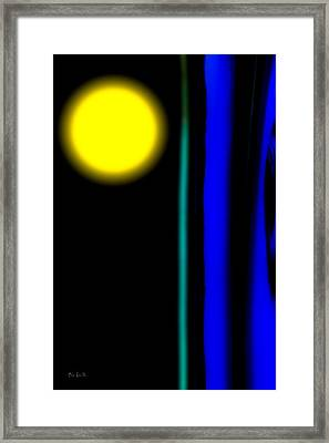 Blue Glass Framed Print by Bob Orsillo